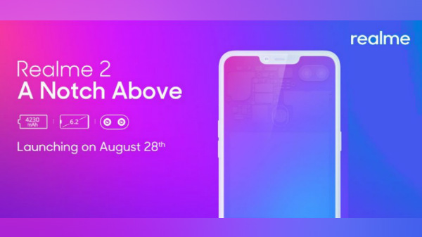 Realme 2 confirmed to be launched on August 28 under Rs. 10,000