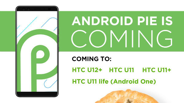 These HTC devices will get Android 9 Pie update: HTC U11, HTC U11+
