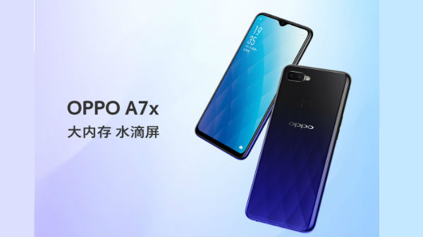 Oppo A7X announced with waterdrop notch design, 128GB storage and more