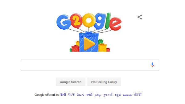 Happy Birthday Google: Search giant celebrates 20th birthday