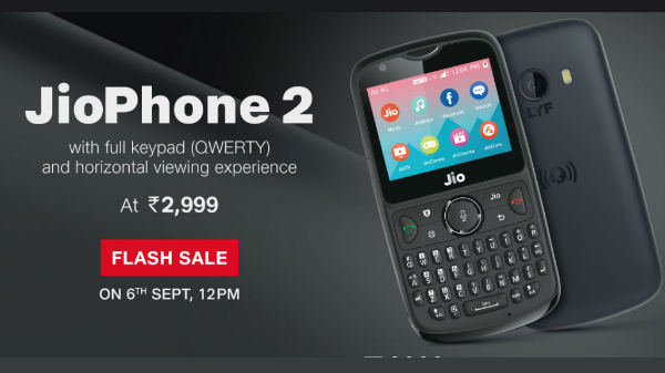 JioPhone 2 up for third flash sale in India at 12pm: Price and specs