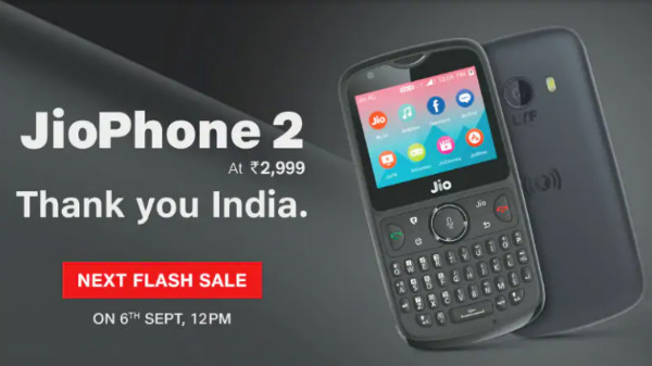 JioPhone 2 next flash sale slated for September 6