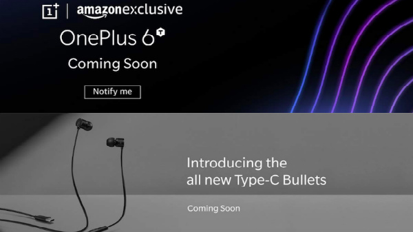 OnePlus 6T partial render leaks; teased by Amazon India