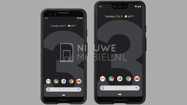 Google Pixel 3 and Pixel 3 XL press renders hit the web