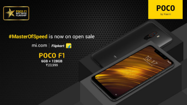 Poco F1 with 6GB RAM and 128GB storage goes on open sale