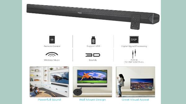 "Portronics launches ""Sound Slick II""soundbar priced at Rs 3,999"
