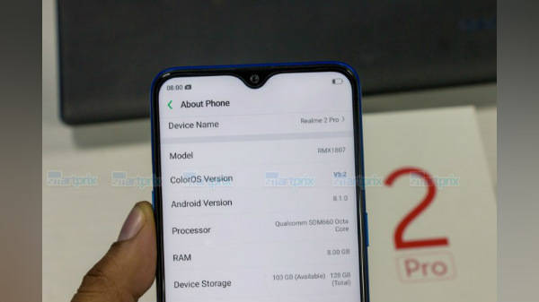 Realme 2 Pro hands-on images confirm 8GB RAM and 128GB storage space