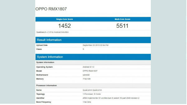 Realme 2 Pro with 8GB RAM visits Geekbench ahead of launch