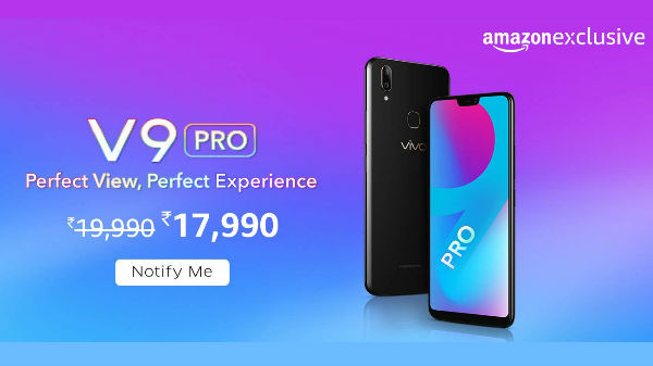 Vivo V9 Pro launched in India with SD 660, 6GB RAM and more