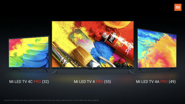 Xiaomi Mi TV 4 Pro, Mi TV 4A Pro & Mi TV 4C Pro officially launched: Price starts at Rs 14,999