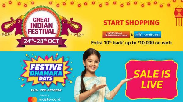 Amazon and Flipkart Festival sale on smartphones