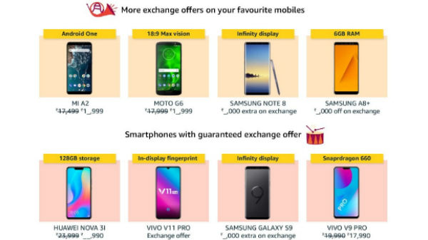 Amazon Great Indian Festival Sale: Xiaomi, Samsung, Oppo and more