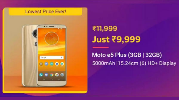 Flipkart Big Billion Day sale: up to 40% discount on Motorola Phones