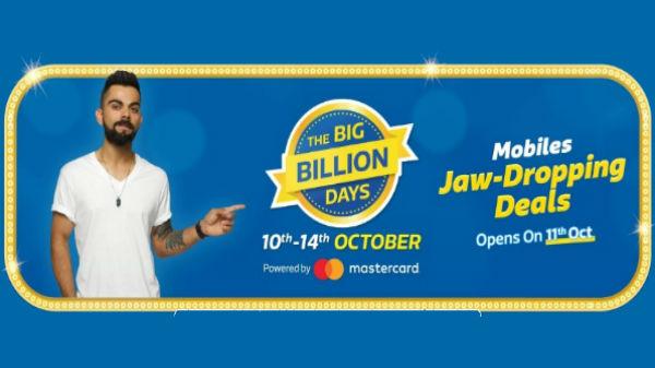 Flipkart Big Billion Days Sale deals: Discounts on smartphones