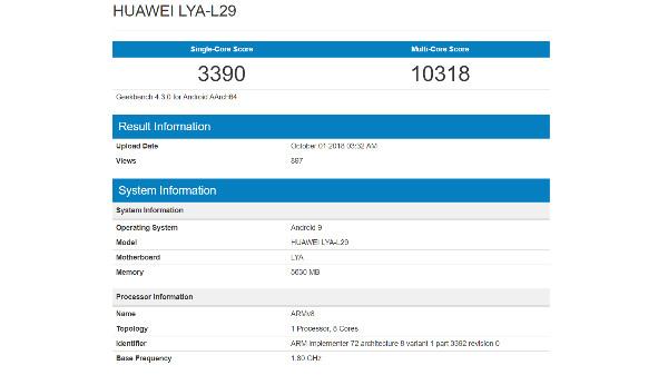 Huawei Mate 20 creates a new record on Geekbench with Kirin 980 SoC