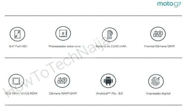 Moto G7 specifications leak online