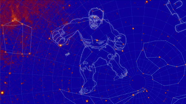 NASA tags new constellations as The Incredible Hulk and Godzilla