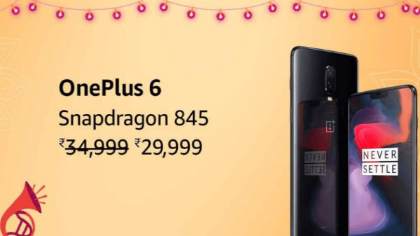 OnePlus 6 will be available for Rs. 29,999 during Amazon Sale