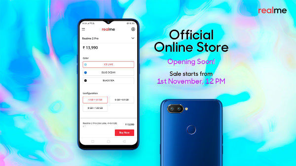 Realme smartphones will be available via official online store