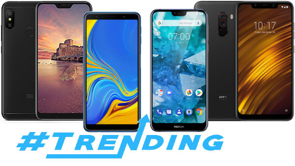 Trending smartphones of last week: Redmi Note 6 Pro, Poco F1 and more