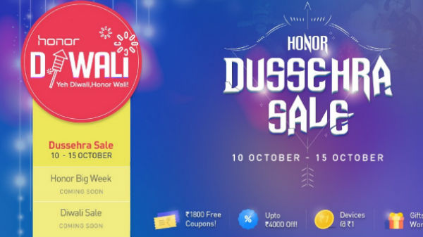 Honor Dussehra and Diwali Festival Sale: Huge discounts and Re1 sale