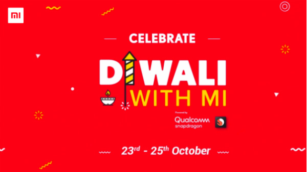Xiaomi Diwali Sale to be hosted for 3 days stating from October 23