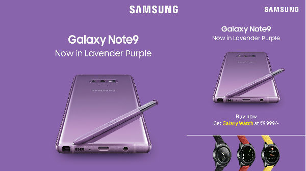 Samsung launches Galaxy Note9 and Galaxy S9+ in new color option