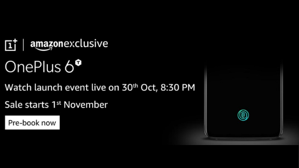 OnePlus 6T first sale on November 1 for Amazon Prime members