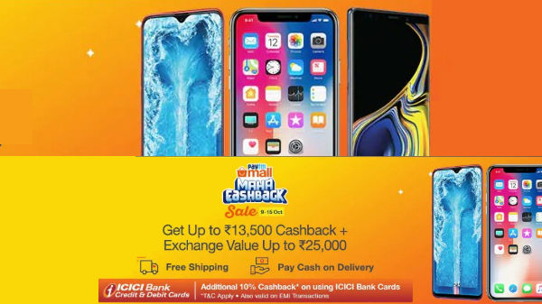 Paytm Mall Festival sale: Get smartphones at discount with Maha Cashback offers