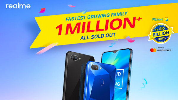 Realme 2 Pro, Realme C1 and Realme 2 sales cross 1 million in 4 days