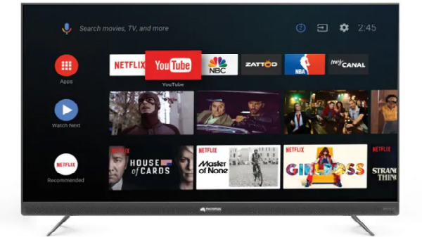 Micromax Android Smart TVs launched starting from Rs. 51,990