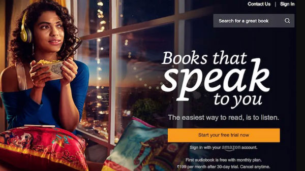 Amazon Audible audiobooks subscription service launched in India
