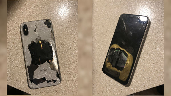Apple iPhone X catches fire (blast) while updating firmware