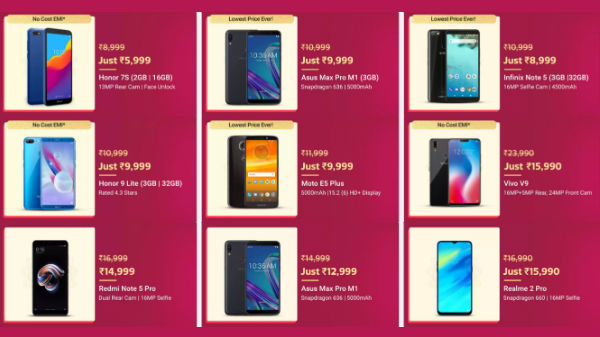 Flipkart Diwali offers: No cost EMI offer on bestselling smartphones