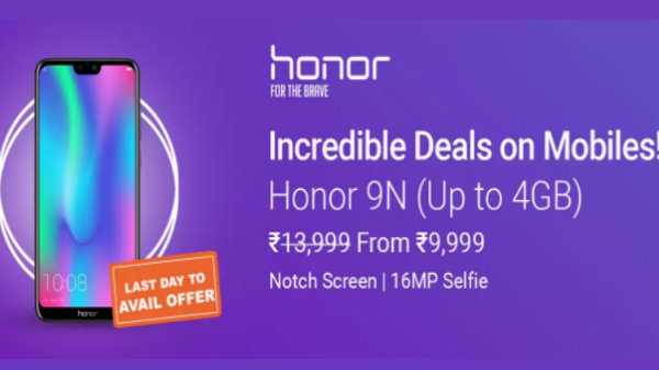 Flipkart Honor Festive Offers: Get discounts on Honor 9N, Honor 9 Lite