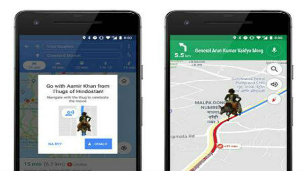 Google Maps partners with Thugs of Hindostan