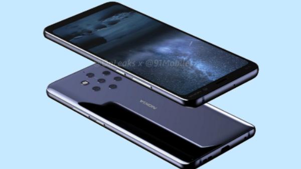Nokia 9 360-degree renders show penta-lens camera setup
