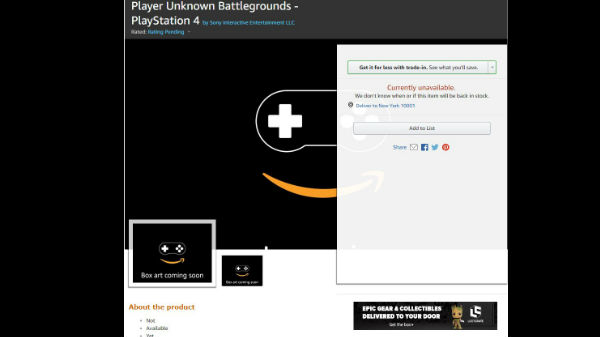 PUBG PS4 spotted on Amazon hinting at December 8 launch