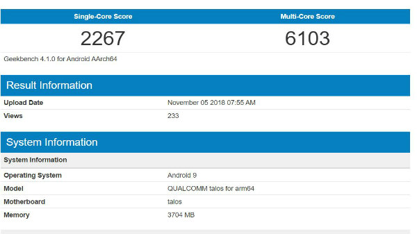 Qualcomm Snapdragon 675 spotted on Geekbench