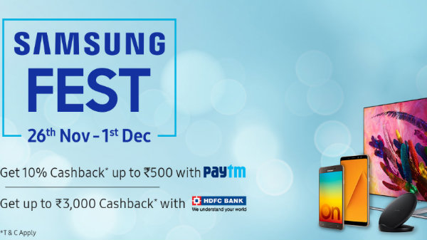Samsung FEST 26th 1st Dec: Discounts and Cashback Offer on Smartphones