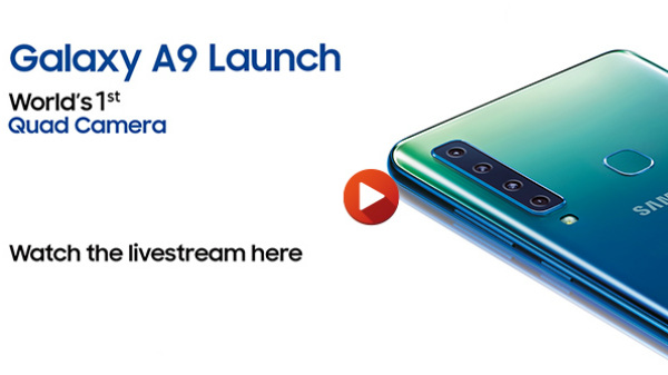 Samsung Galaxy A9 launch live-stream: Watch the unveiling
