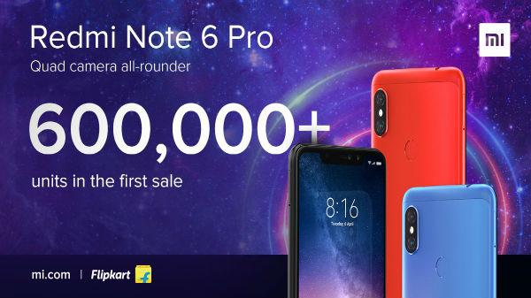 Xiaomi Redmi Note 6 Pro sold-out within minutes on the first sale