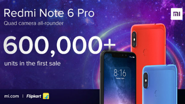 Xiaomi Redmi Note 6 Pro will go on sale again at 6 PM today