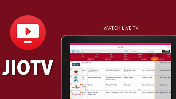 JioTV app streams 621 live TV channels