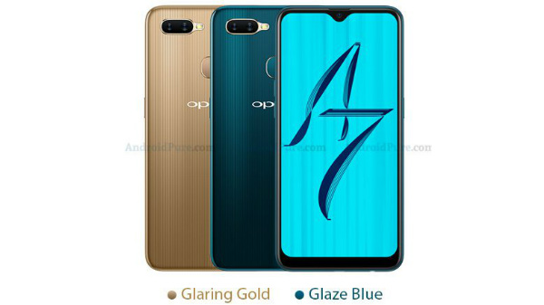 Oppo A7 leaked renders hint at waterdrop notch and 4230mAh battery