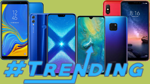 Trending smartphones of last week: Samsung Galaxy A7 (2018), Redmi Note 6 Pro, Honor 8X and more