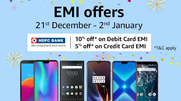 Amazon EMI Fest Offers: Get Nokia 8, Galaxy S9 Plus and more on EMI