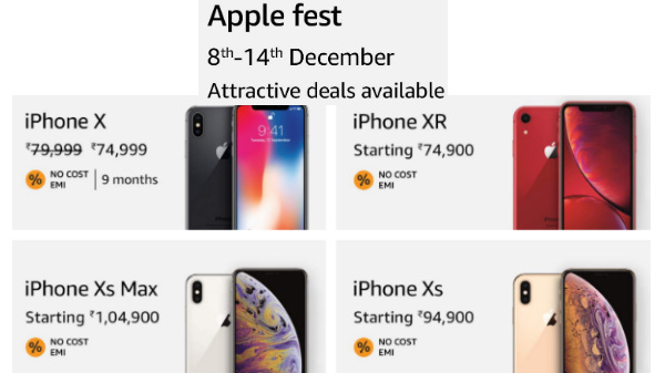 Apple Fest on Amazon: Attractive discount, deals, no cost EMI and more