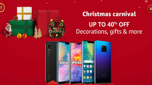 Christmas offers on Huawei smartphones