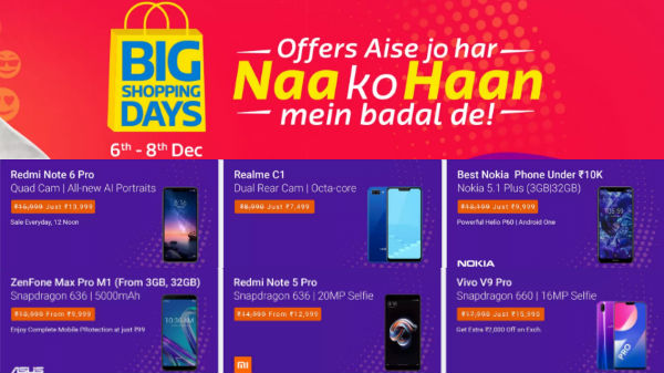 Flipkart Big Shopping Day Sale: Get preview offers on smartphones